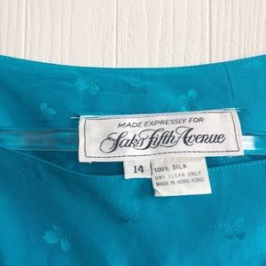 Vintage Dresses - Vintage '80s Silk Saks Fifth Avenue Dress >> M-L